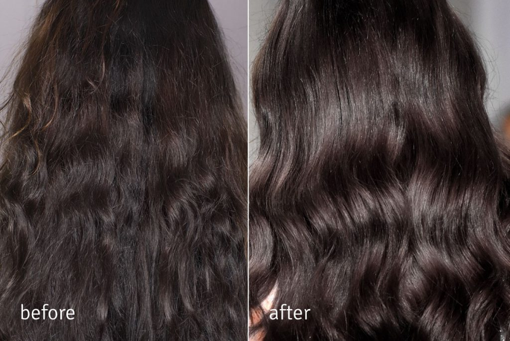 Nanoil Keratin Hair Mask - before and after